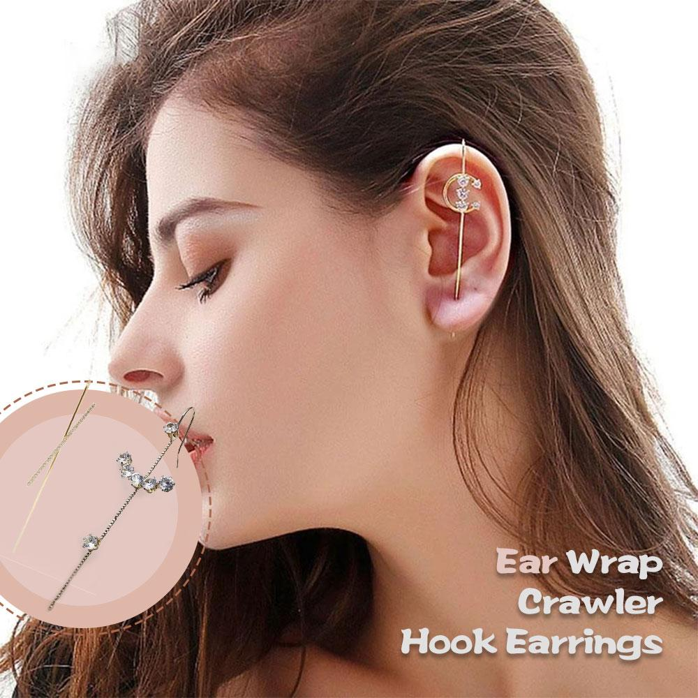 Mysticzone Ear Wrap Crawler Hook Earrings