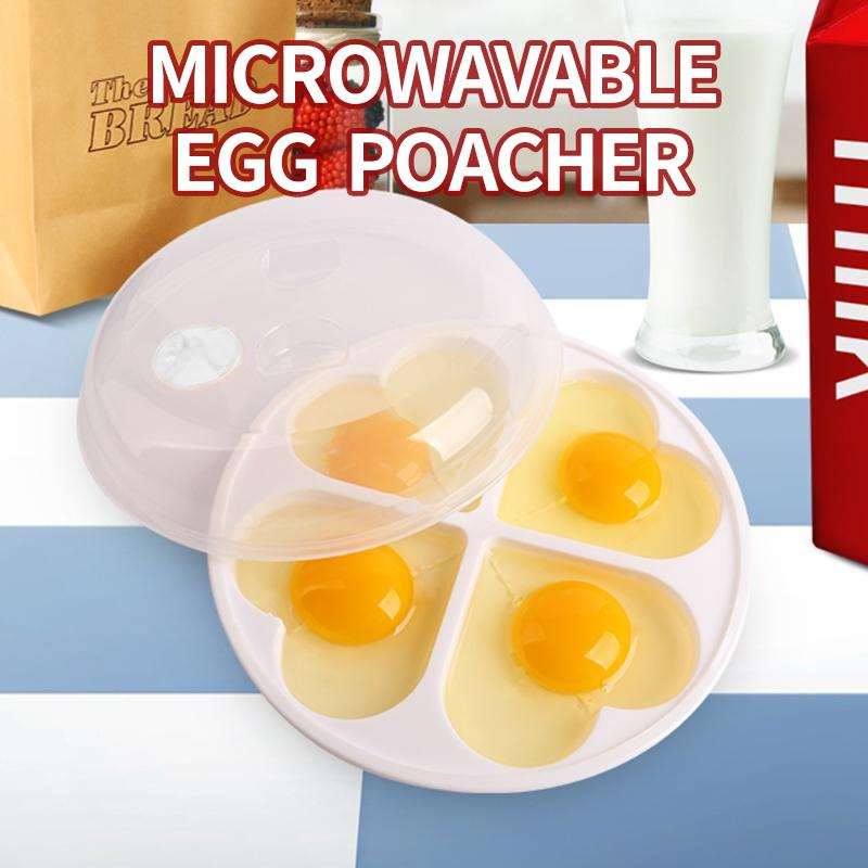 Mysticzone Heart-Shaped Microwavable Egg Poacher