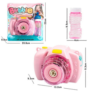 Mysticzone Children's camera bubble machine light music bubble camera toy