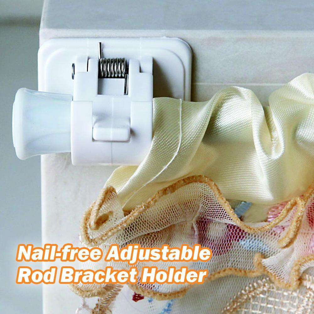Mysticzone Nail-free Adjustable Rod Bracket Holders (1 pair)