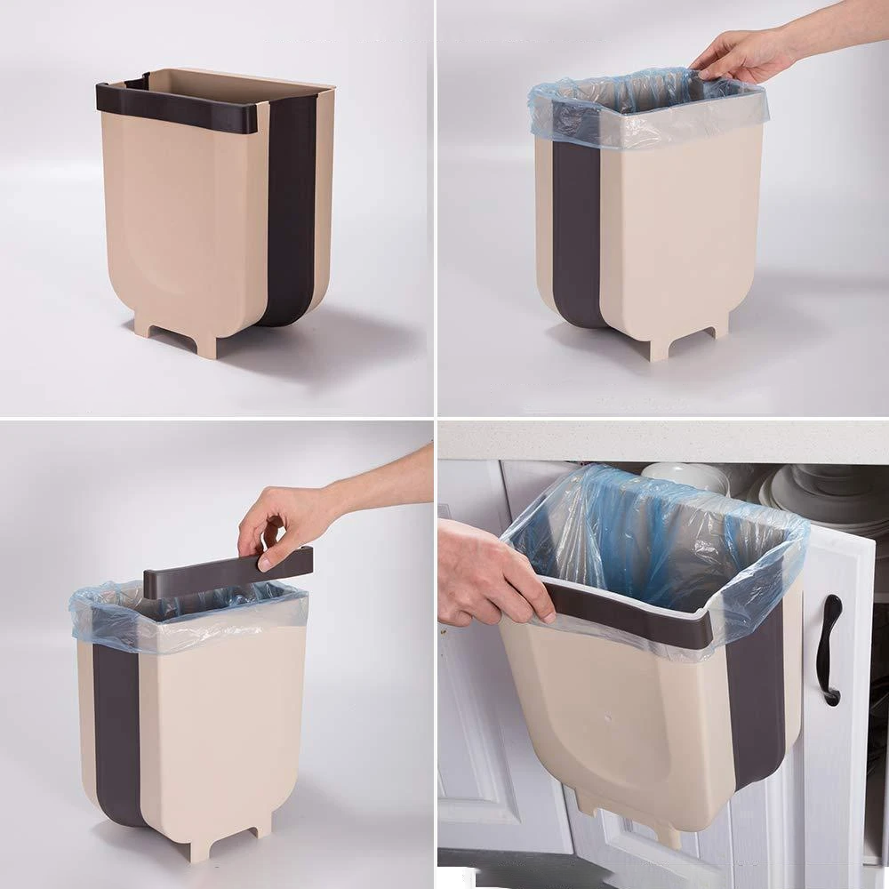 Mysticzone Creative Wall Mounted Folding Waste Bin