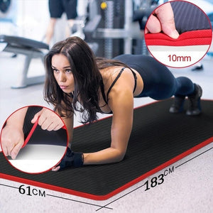 Mysticzone Thickened ultra-soft yoga mat fitness exercise Pilates mat tear-resistant yoga mat bag
