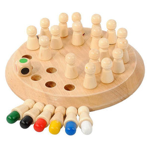 Mysticzone Wooden Memory Match Stick Chess