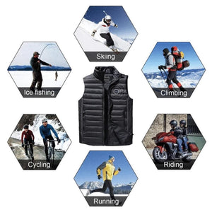 Mysticzone Unisex Lightweight Heated Vest (Free shipping)