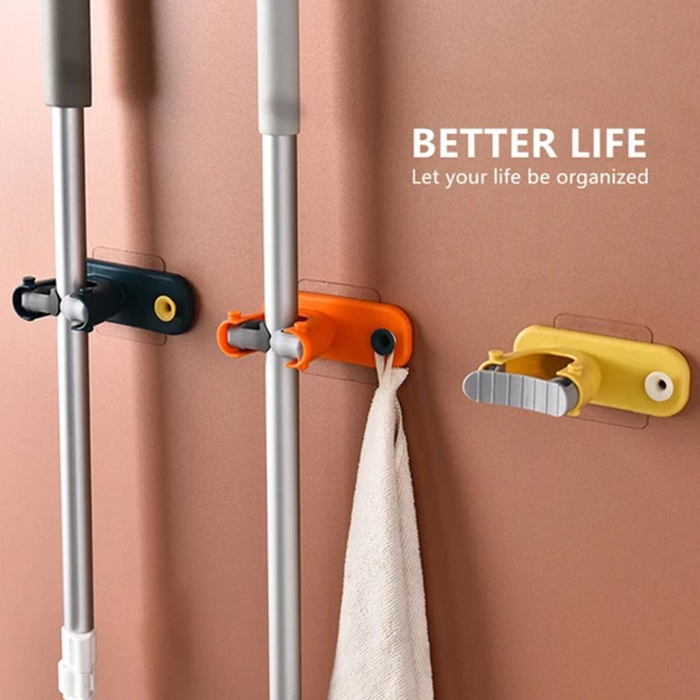 Mysticzone 2 In 1 Multi-functional Broom Holder (Buy More Save More)