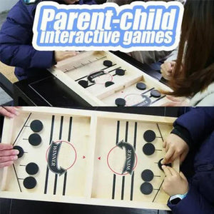 Mysticzone Funny Family Wooden Hockey Game