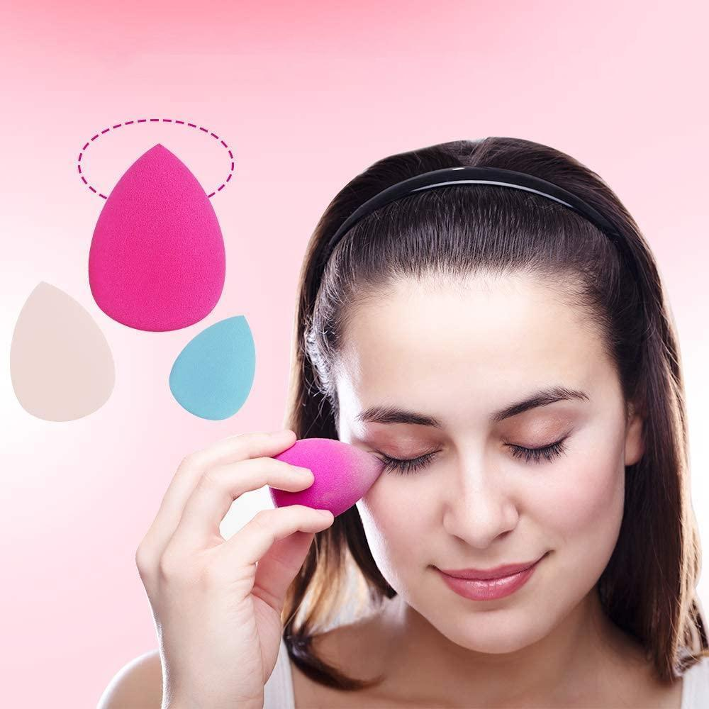 Mysticzone 3 Pcs Make-up Sponge Set for Liquid Foundation, Creams and Powders