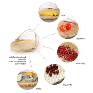 Mysticzone Hand-Woven Food Serving Basket
