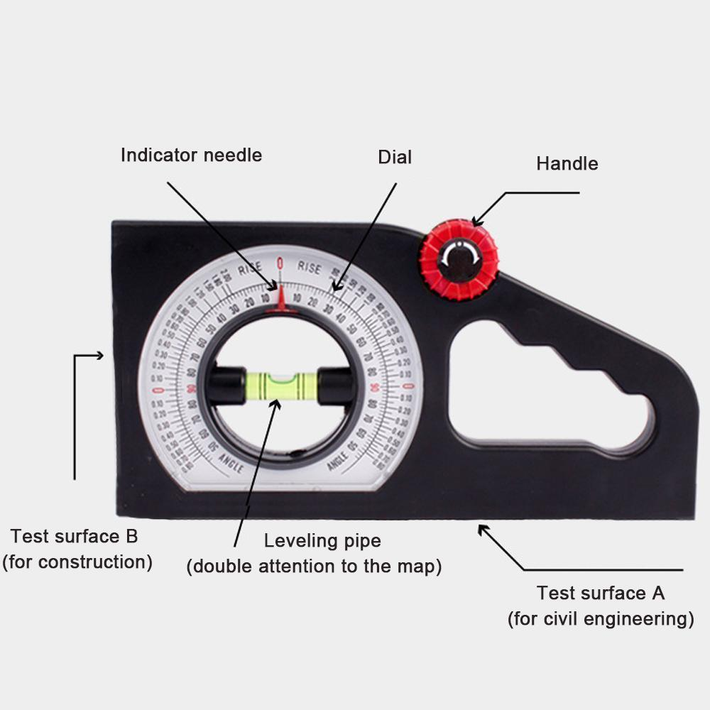 Mysticzone Slope Horizontal Vertical Angle Bevel Protractor Declinometer