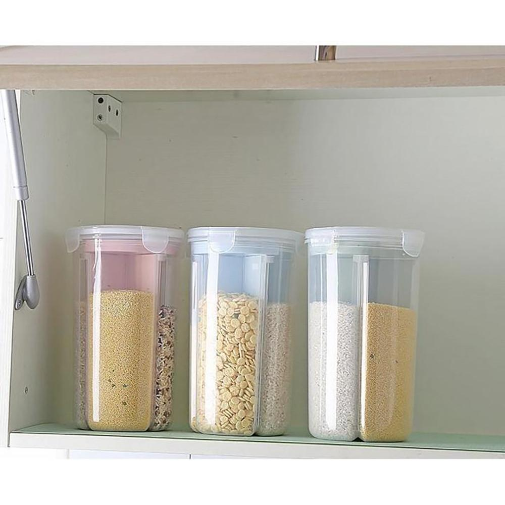 Mysticzone Rotating Kitchen Storage Tank Dry Food Storage Containers Cereal Storage