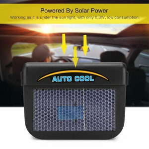 Mysticzone Vehicle Solar Powered Car Vent Window Fan