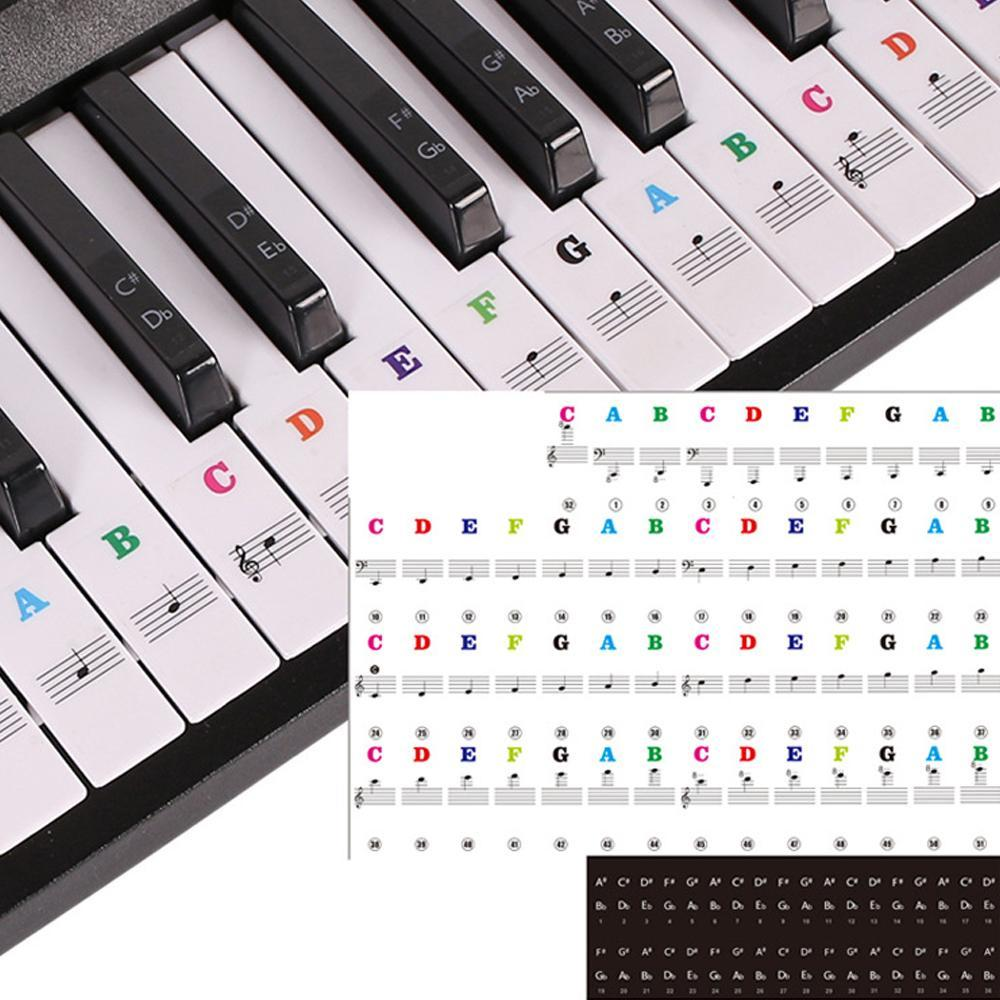 Mysticzone Piano Keyboard Stickers