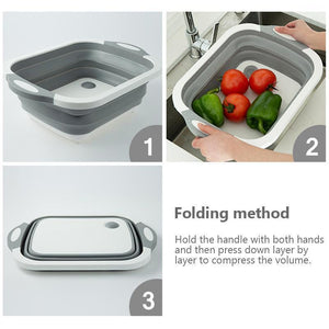 Mysticzone Portable Multi-function Collapsible Dish Tub