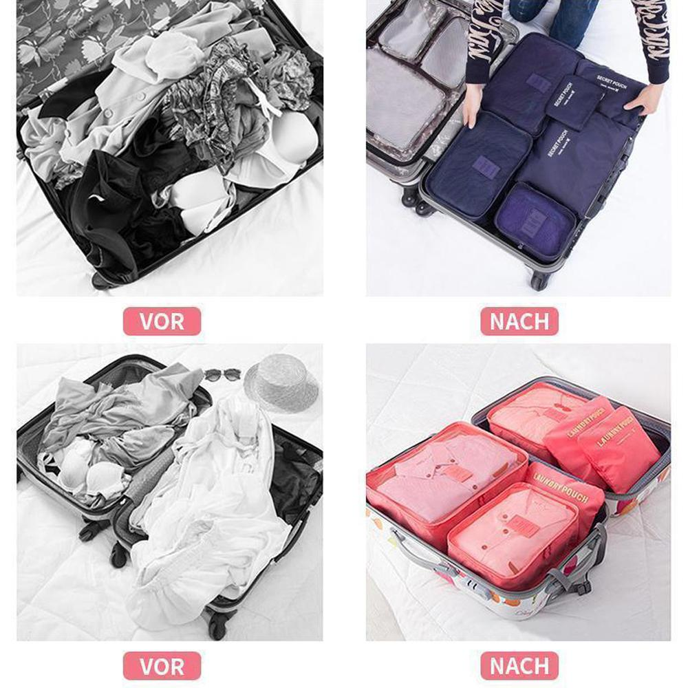 Mysticzone 6 Pieces Portable Luggage Packing Cubes