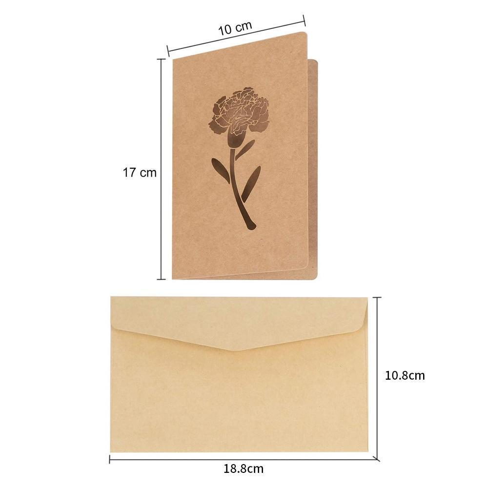 Mysticzone Vintage Greeting Cards with Envelopes Kraft Paper Blank Gift Cards