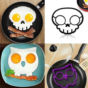 Mysticzone Halloween Horror Skull Fried Egg Mold