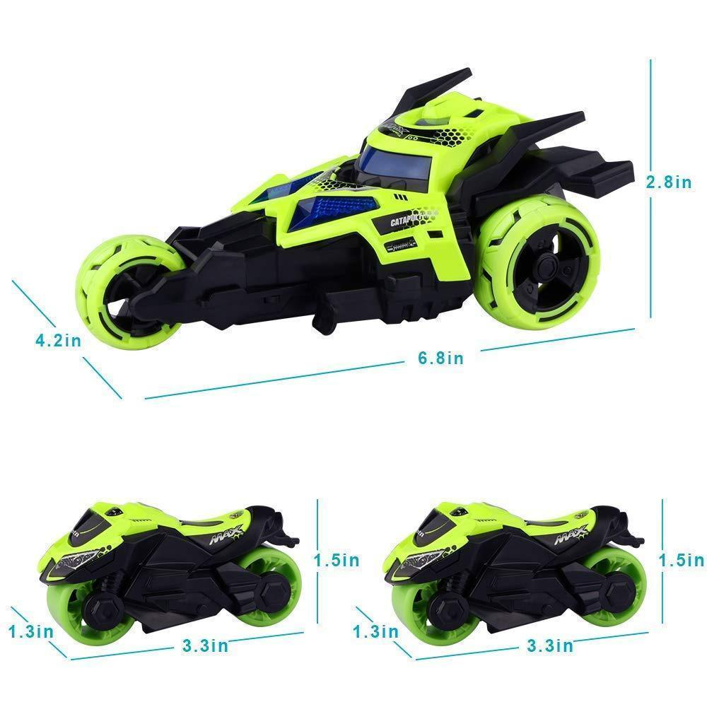 Mysticzone 3 in 1 Race Car Toy, Motorcycle Race Vehicles Toy for Kids