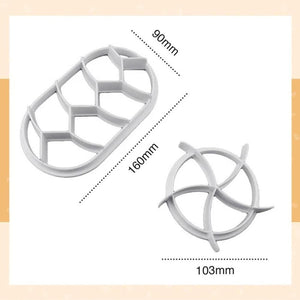 Mysticzone Round & Oval Pastry Pattern Mold (2pcs set)