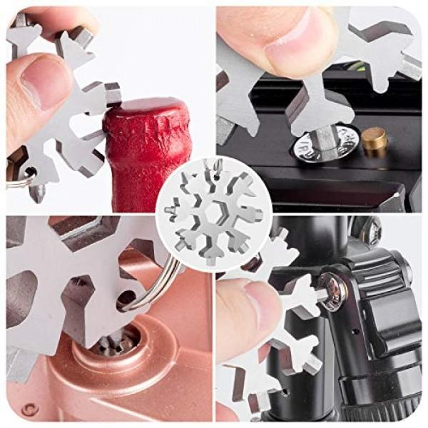 Mysticzone 18-in-1 stainless steel snowflakes multi-tool