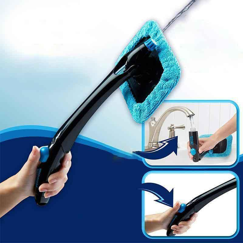 Mysticzone Windscreen Cleaner, with reusable microfiber hood