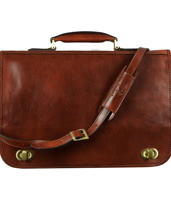 Leather Illusions Briefcase - Brown