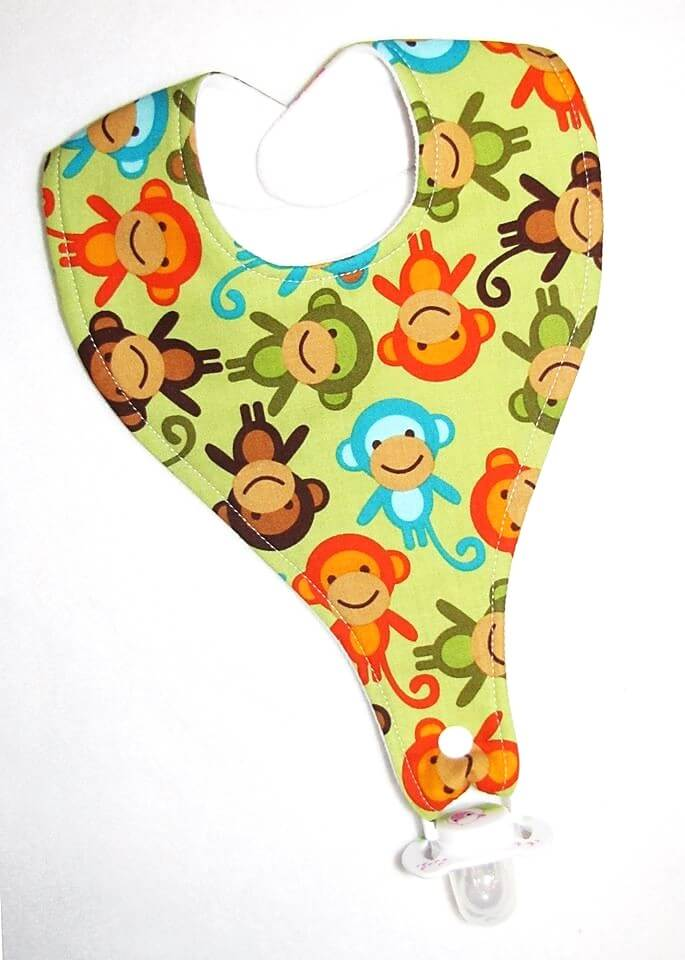 Green Monkeys Bib (Drop-Me-Not)