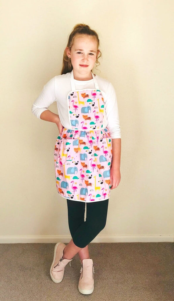 Girl's Kitchen-style Apron. Lovingly designed and handcrafted in New Zealand.