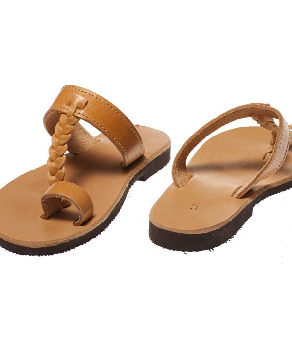 Greek Leather Sandals - Natural