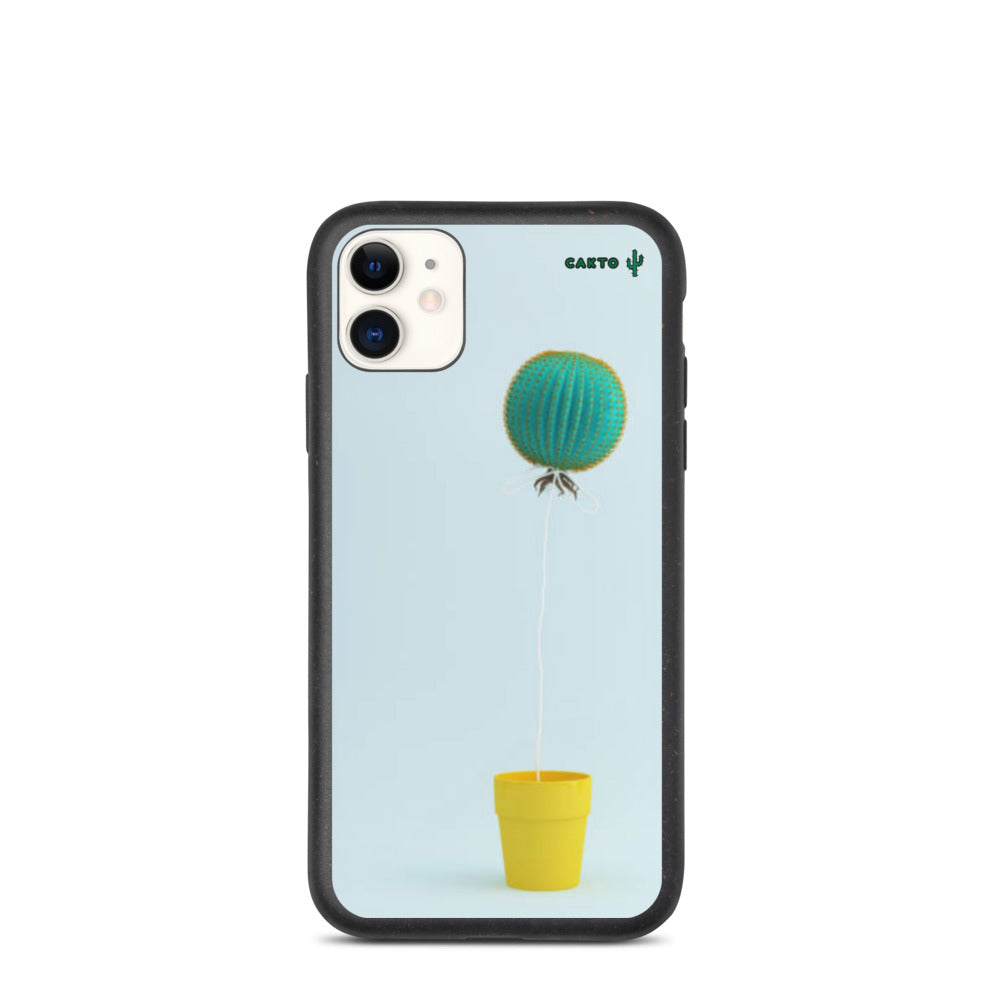Funda de iPhone cactus globo biodegradable - Cakto