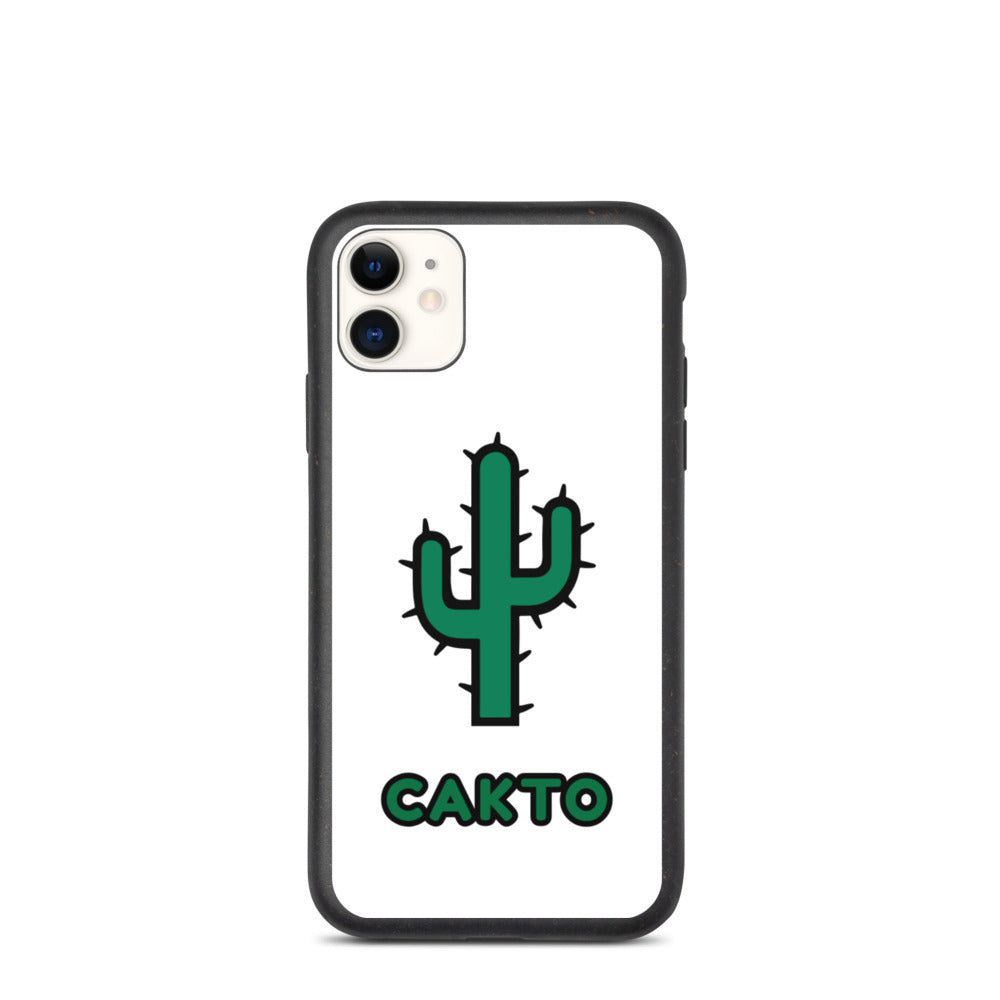 Funda de iPhone cakto blanca biodegradable - Cakto