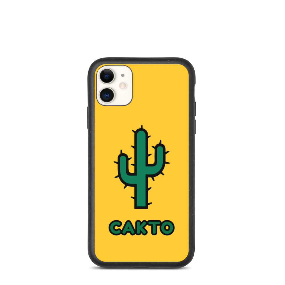 Funda de iPhone cakto amarilla biodegradable - Cakto