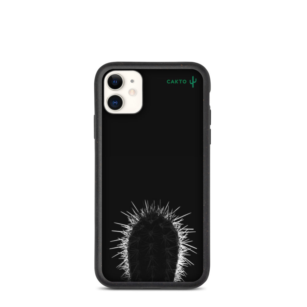 Funda de iPhone cactus negro biodegradable - Cakto