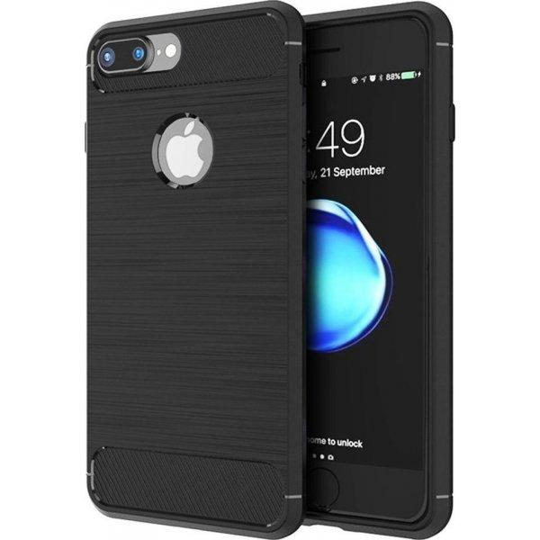 Θηκη TPU Carbon OEM - iPhone 7 Plus / 8 Plus - Μαυρο - iThinksmart.gr