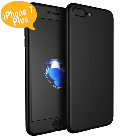 Θηκη 360° Full Cover Μαυρη - iPhone 7 Plus / 8 Plus - iThinkSmart.gr