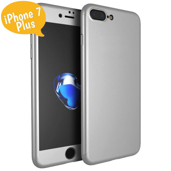 Θηκη 360° Full Cover Ασημι - iPhone 7 Plus / 8 Plus - iThinksmart.gr