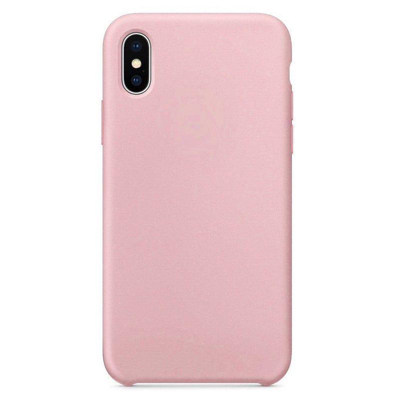 Θηκη Silicone Rubber - iPhone X / XS - Ροζ - iThinksmart.gr
