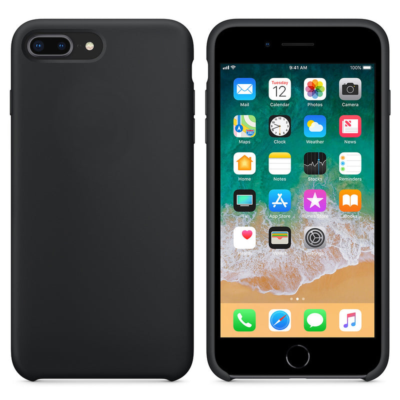 Θηκη Silicone Rubber - iPhone 7 Plus / 8 Plus - Μαυρο - iThinksmart.gr