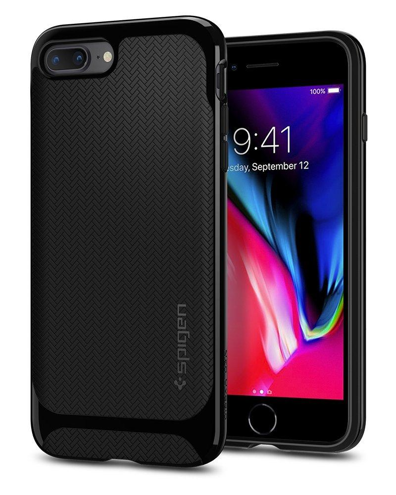 Θηκη Spigen Neo Hybrid 055CS22230 - iPhone 7 Plus / 8 Plus - Shiny Black - iThinksmart.gr