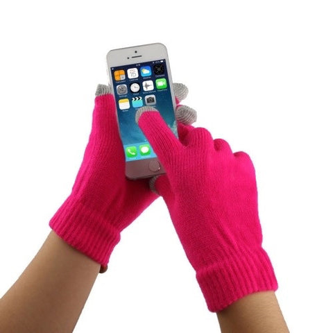 Touch Screen Gloves Φουξια,  , Gloves, i-Think - i-Think