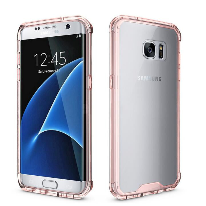 Θηκη Shockproof TPU - Samsung Galaxy S7 Edge - Ροζ - iThinksmart.gr