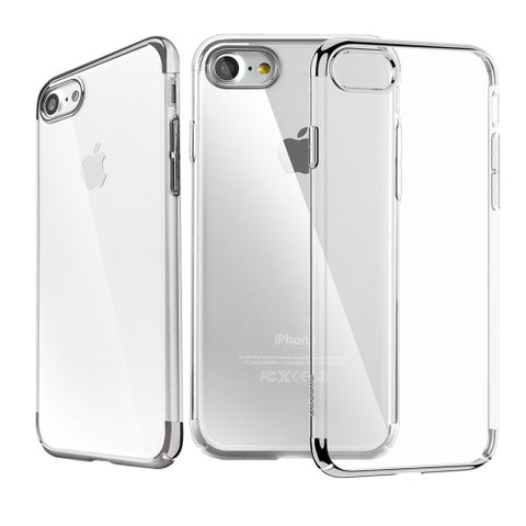 Θηκη Baseus Electroplating Frame - iPhone 7 - Μαυρο - IPH7-P15BK,  , Θήκη, Baseus - i-Think - 1