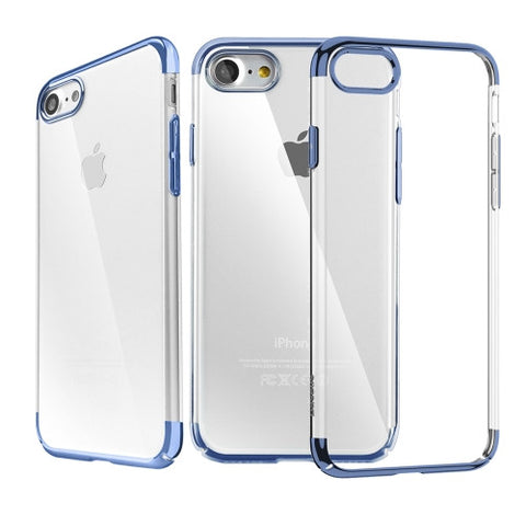 Θηκη Baseus Electroplating Frame - iPhone 7 - Σκουρο Μπλε - IPH7-P15NBL,  , Θήκη, Baseus - i-Think - 1