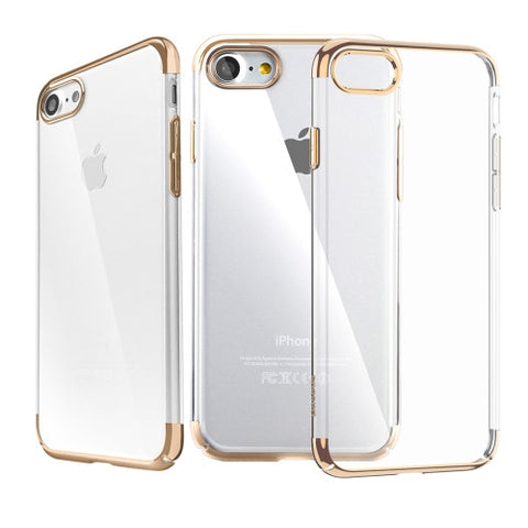 Θηκη Baseus Electroplating Frame - iPhone 7 - Xρυσο - IPH7-P15G,  , Θήκη, Baseus - i-Think - 1