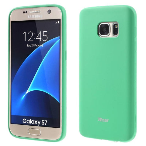 Θηκη TPU Roar Colorful Jelly - Galaxy S7 - Mint - GS7-P5M,  , Θήκη, ROAR - i-Think - 1
