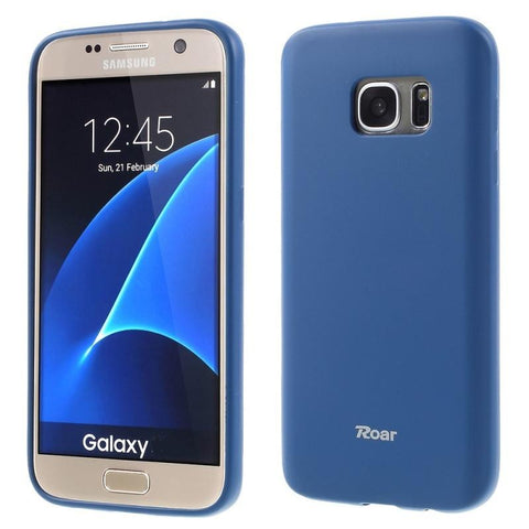 Θηκη TPU Roar Colorful Jelly - Galaxy S6 - Σκουρο Μπλε - GS6-P6DB,  , Θήκη, ROAR - i-Think - 1
