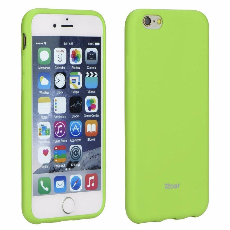 Θηκη TPU Roar Colorful Jelly - iPhone 7 / iPhone 8 / SE 2020 - Lime - iThinksmart.gr