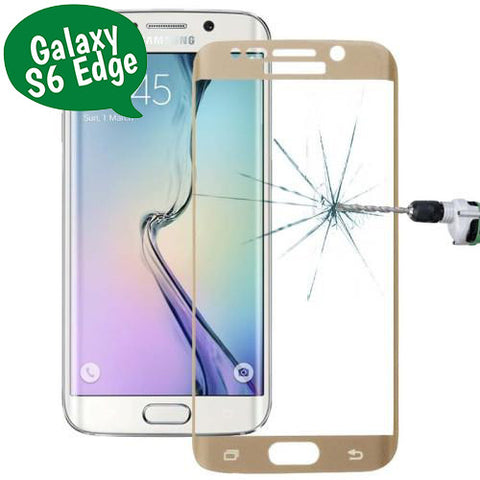 Tempered Glass Curved - Galaxy S6 Edge (G925) - Χρυσο