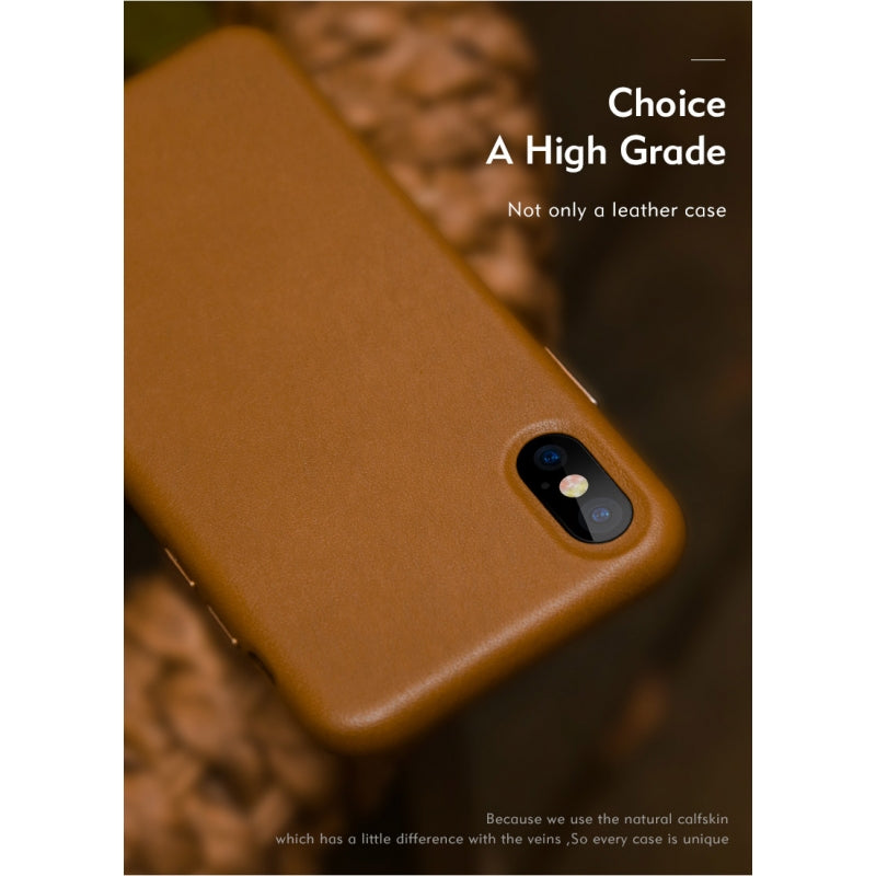 Θηκη Benks Eleleat Leather - iPhone X / XS - Brown - iThinksmart.gr