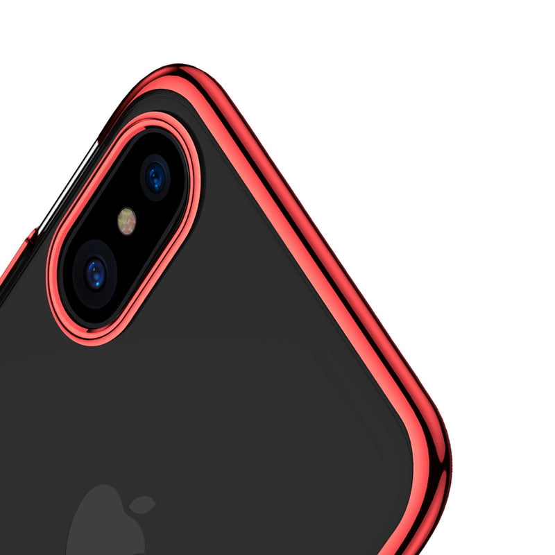 Θηκη Baseus Electroplating Frame - iPhone X / XS - Κοκκινο - iThinksmart.gr