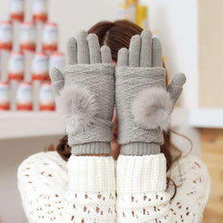Touch Screen Gloves 2in1 - Grey - iThinksmart.gr